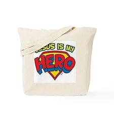 Jesus is my hero Tote Bag