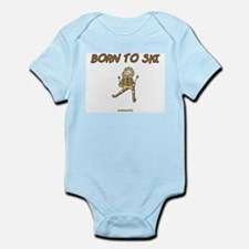 Born To Ski Infant Bodysuit