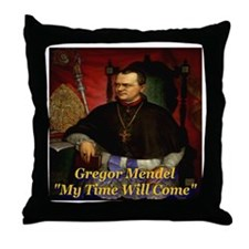 Gregor Mendel My Time Will Co Throw Pillow