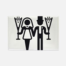Bridal Pair With Sparkling Wine (Wedding) Rectangl