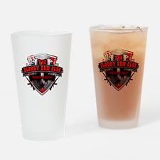 Bloody Gun Club Logo Drinking Glass