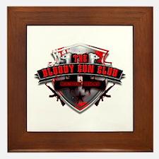 Bloody Gun Club Logo Framed Tile