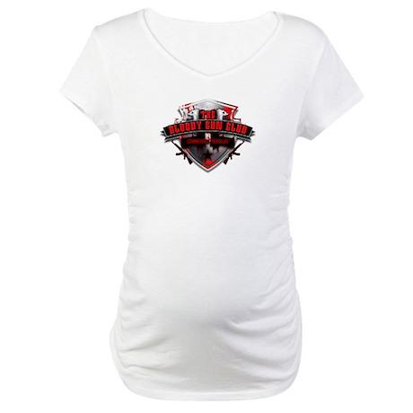 Bloody Gun Club Logo Maternity T Shirt Bloody Gun Club
