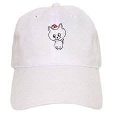 Cat with Santa Hat. Baseball Baseball Cap