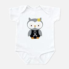 Gray Ribbon Awareness Owl Infant Bodysuit