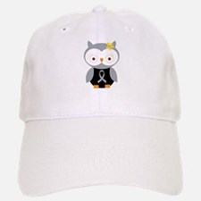 Gray Ribbon Awareness Owl Baseball Baseball Cap