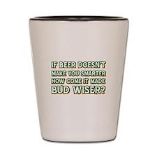 Funny Beer Designs Shot Glass