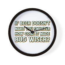 Funny Beer Designs Wall Clock