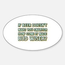 Funny Beer Designs Sticker (Oval)