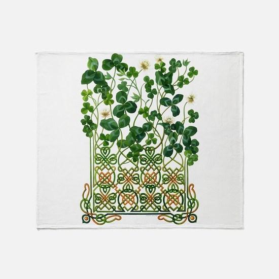 Celtic Shamrock Throw Blanket