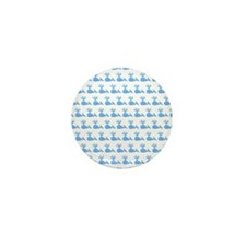 Pattern of Blue Whales. Mini Button