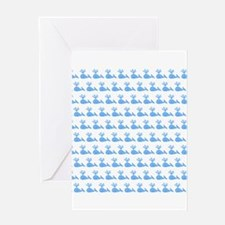 Pattern of Blue Whales. Greeting Card