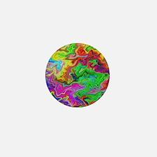 Bright Colorful Swirls. Mini Button