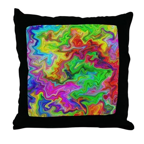 Bright Colorful Swirls. Throw Pillow by Metarla3