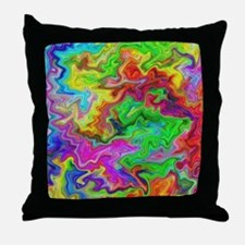 Bright Colorful Swirls. Throw Pillow