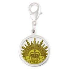 The Australian Army badge e5 Silver Round Charm