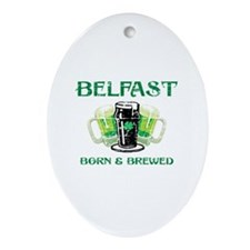 Belfast Born And Brewed Ornament (Oval)