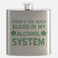 Funny Irish Clover Drinking Shirt Flask