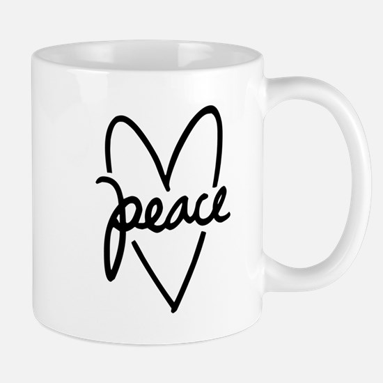 Peace Heart Small Mug