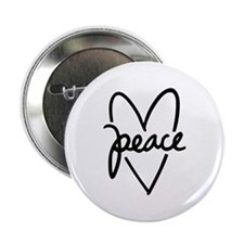 "Peace Heart 2.25"" Button"