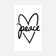Peace Heart Decal