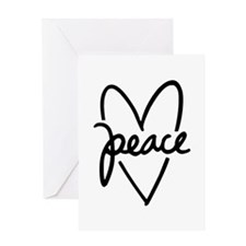 Peace Heart Greeting Card