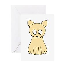 Cream Color Cat. Greeting Card