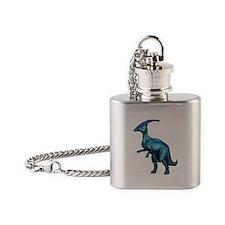 Parasaurolophus Flask Necklace