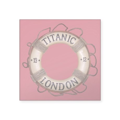 "Titanic Square Sticker 3"" x 3"""