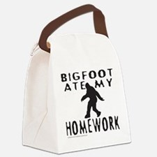 BIGFOOT ATE MY HOMEWORK Canvas Lunch Bag