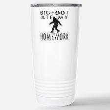 BIGFOOT ATE MY HOMEWORK Travel Mug