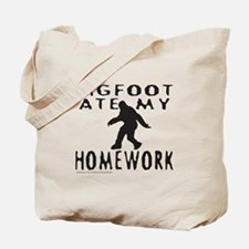 BIGFOOT ATE MY HOMEWORK Tote Bag