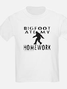 BIGFOOT ATE MY HOMEWORK T-Shirt