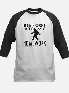 BIGFOOT ATE MY HOMEWORK Kids Baseball Jersey