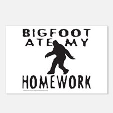 BIGFOOT ATE MY HOMEWORK Postcards (Package of 8)