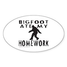 BIGFOOT ATE MY HOMEWORK Decal