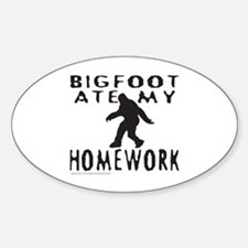 BIGFOOT ATE MY HOMEWORK Decal
