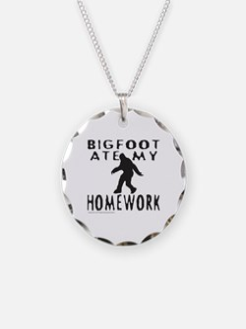 BIGFOOT ATE MY HOMEWORK Necklace