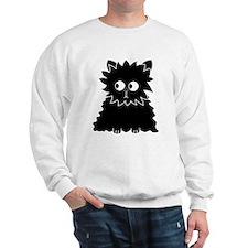 Long Haired Black Cat. Sweatshirt
