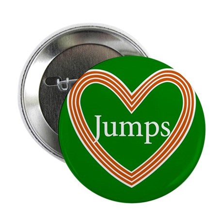 "Track and Field Love Jumps Heart 2.25"" Button (10"