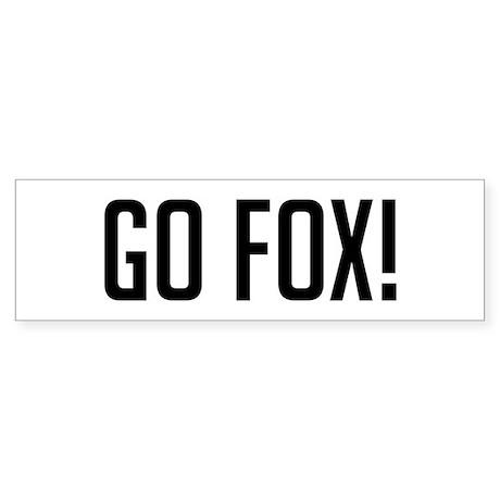 Go Fox Bumper Sticker