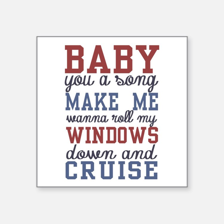 Country Lyrics Bumper Stickers Car Stickers Decals Amp More