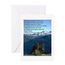 3-PSALM 23 Greeting Cards