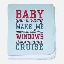 Cruise baby blanket
