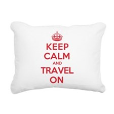 Unique Keep calm and carry on Rectangular Canvas Pillow