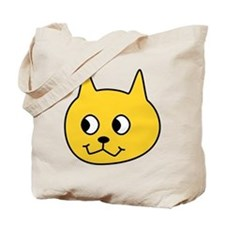Yellow Cartoon Cat. Tote Bag