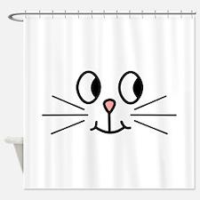 Cute Cat Face. Shower Curtain