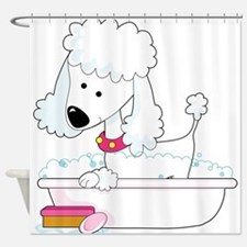 Poodle Bath - Shower Curtain