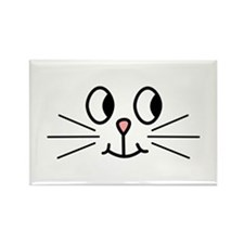 Cute Cat Face. Rectangle Magnet (100 pack)
