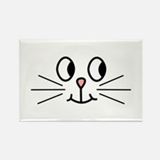 Cute Cat Face. Rectangle Magnet